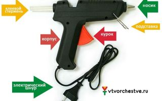 Клеевой пистолет для рукоделия: виды и особенности выбора и эксплуатации, техника безопасности