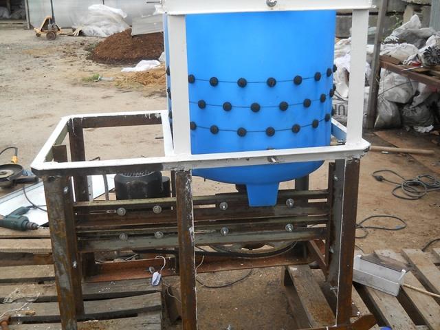 Перосъемная машина своими руками из стиральной машинки