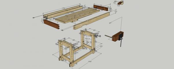 Изготовление столярного верстака для работы своими руками: устройство и назначение
