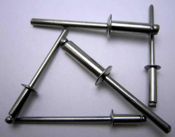 Что представляют собой вытяжные заклепки для металла: все размеры
