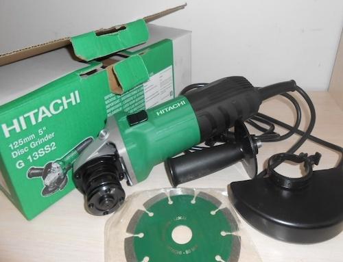 Угловая шлифовальная машина g13ss hitachi: характеристики и отзывы