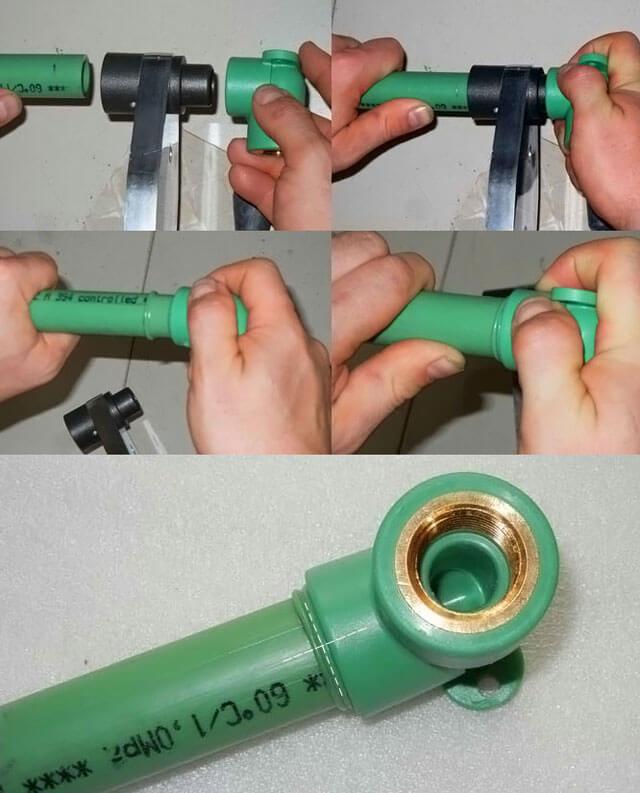 Как правильно выполнить сварку полипропиленовых труб своими руками