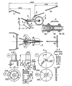 Рекомендации по изготовлению ручного плуга для мотоблока своими руками