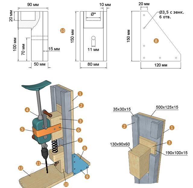 Советы по изготовлению сверлильного станка своими руками