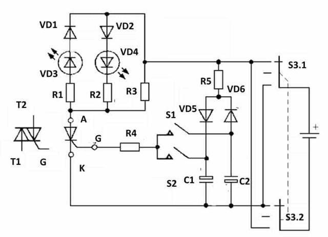 Как проверить симистор с помощью тестера или батарейки и светодиода