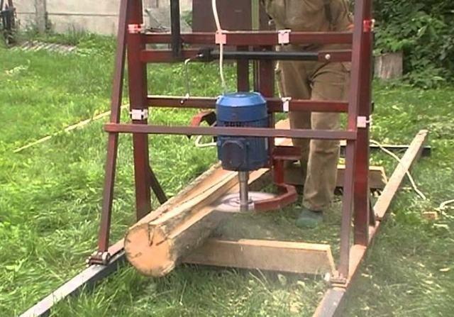 Дисковая пилорама с бензиновым двигателем своими руками